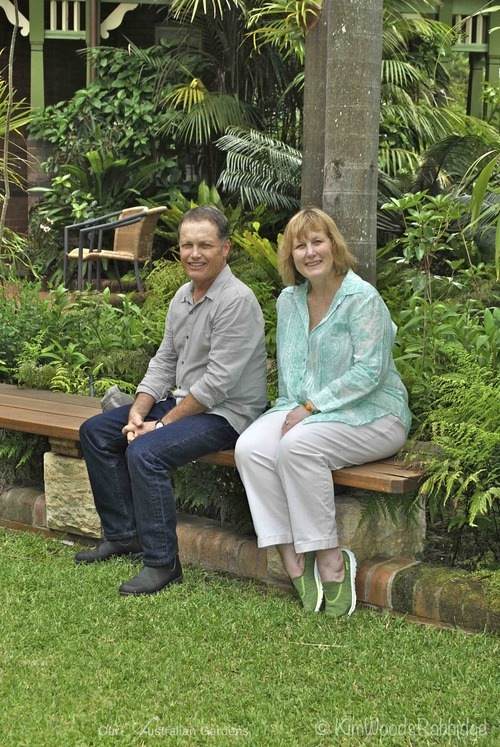 All in the family: Garden designer Graeme Greenhalgh with his sister, and homeowner Glenys Rowe.