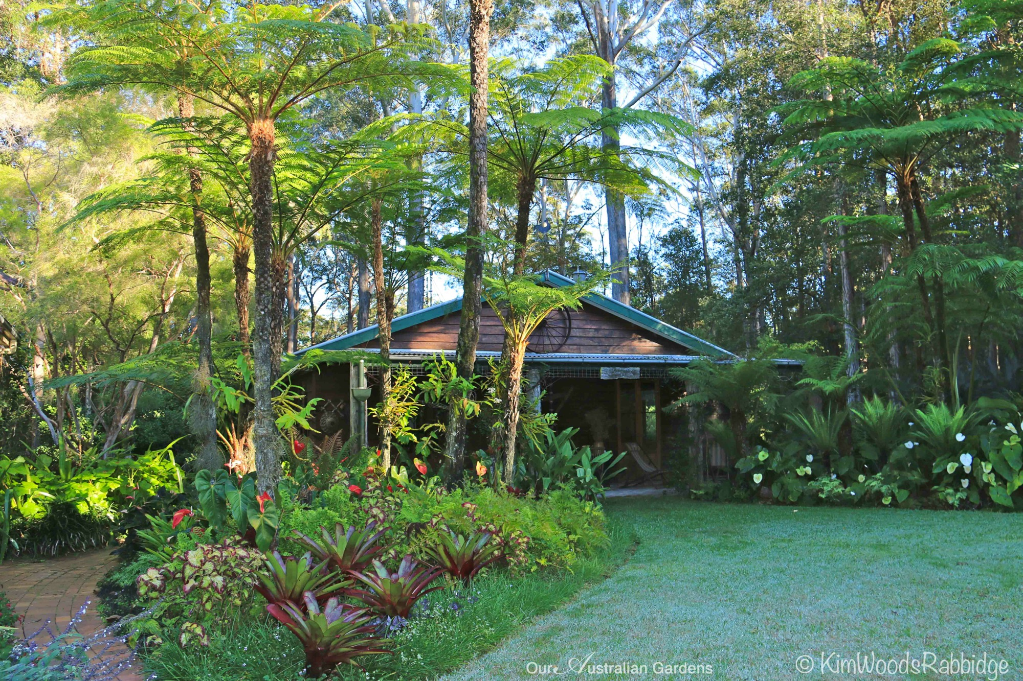 Cottage made from stringybark eumundi queensland for Garden designs queensland
