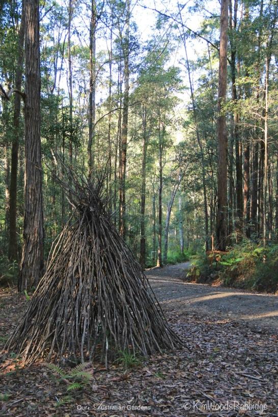 Twig teepee sculpture.