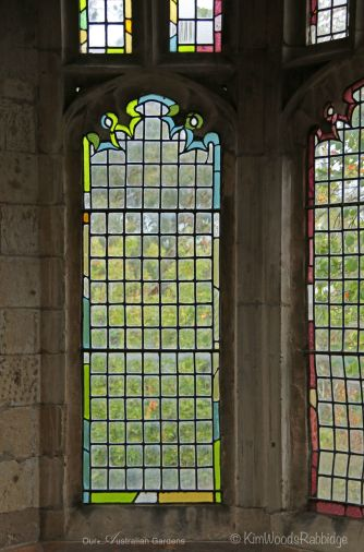 Windows inside the Great Hall allow views over the garden.