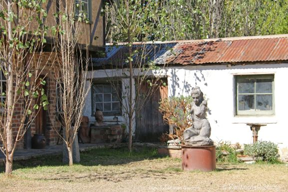 A Matcham Skipper sculpture outside the original stables.