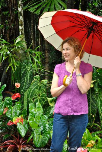 Mollie in her garden.
