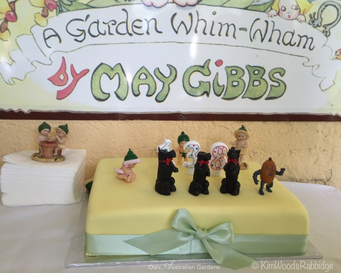 A modern-day fan of May's (a sweet elderly lady) organised this cake complete with characters from May's stories.