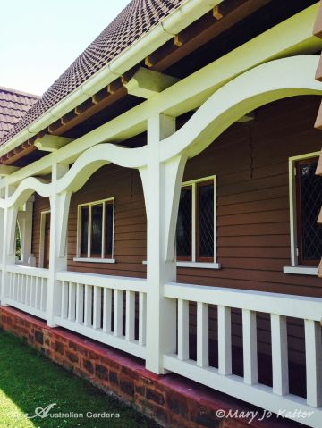 Verandas help keep the interior cool in hot summers.