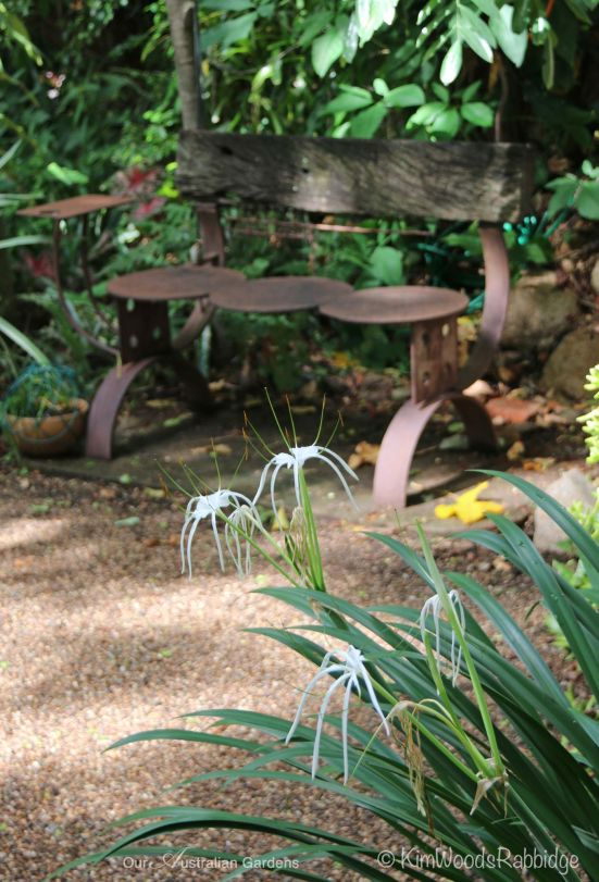 A garden bench made by Jon Harris