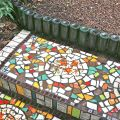 Detail mosaic and bottle steps©Kim Woods Rabbidge