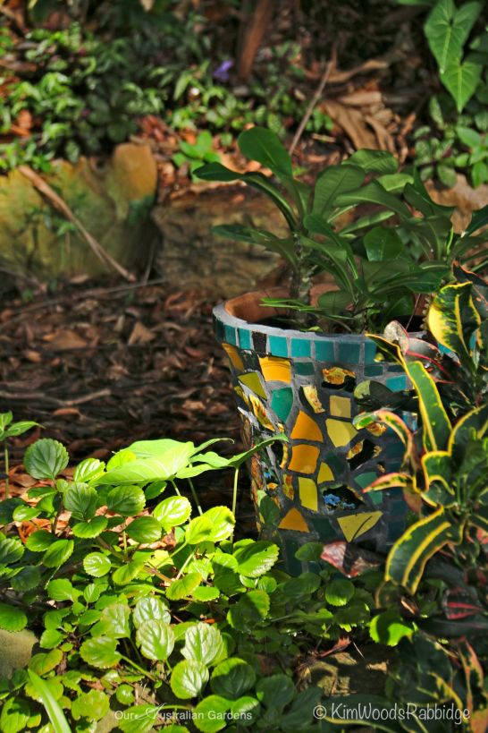 Another of Glenn's fabulous mosaic pots.