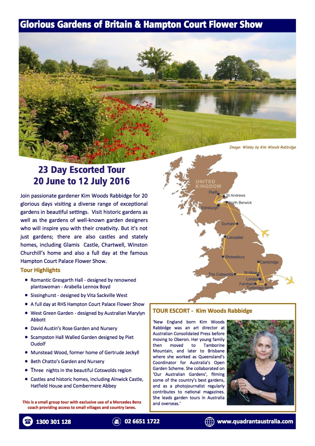Glorious Gardens A4 & Booking Form