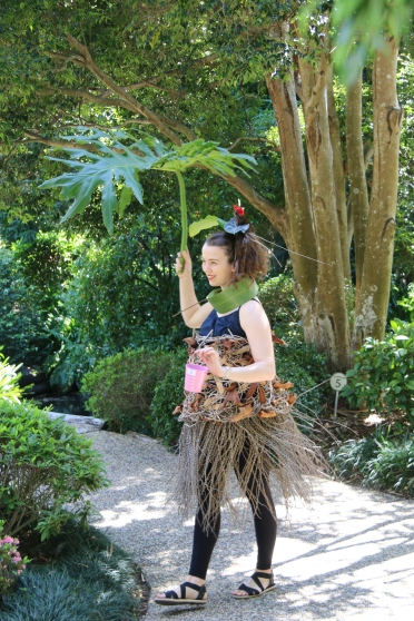 Parading through the Japanese Gardens, Mt Coot-tha.